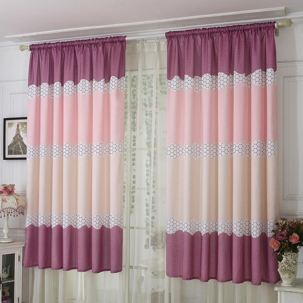 Amazing Alloyseed Wide Strip Half Shading Curtain Bedroom Living Room Semi Blackout Purdah Home Interior And Landscaping Synyenasavecom