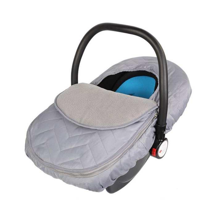 UR Winter Velvet Baby Basket Cover Outdoor Baby Basket Safety Seat Windshield