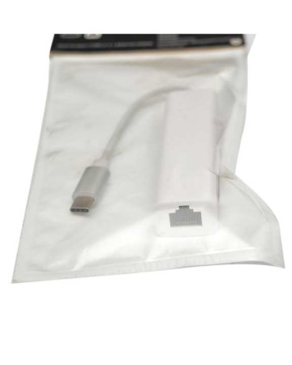 Central Impex Type C To Ethernet And Usb Combo Converter - White