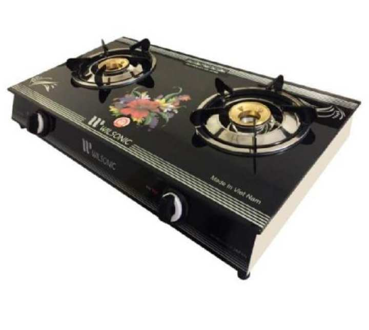 Wilsonic Vietnam Glass Top Gas Cooker with Two Burners - VGC2018