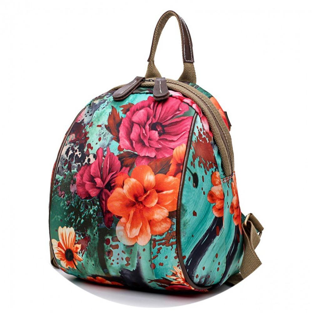 6539abffc353 Women Nylon Flower Pattern National Style Handbag Shoulder Bags Backpacks