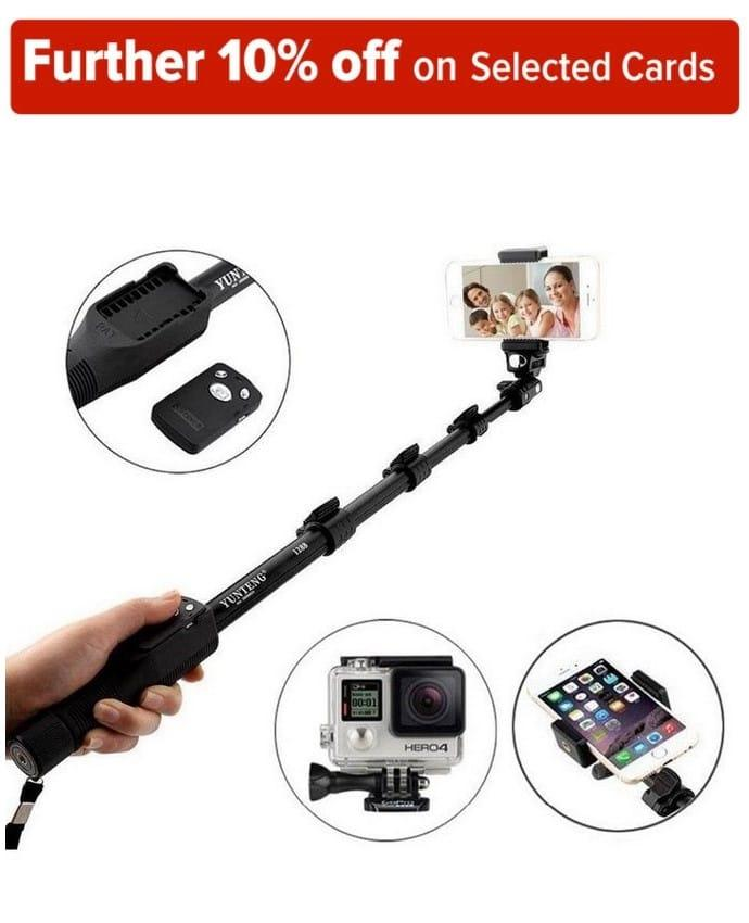 Yunfeng 1288 Bluetooth Selfie Stick for Smartphones and Digital Camera