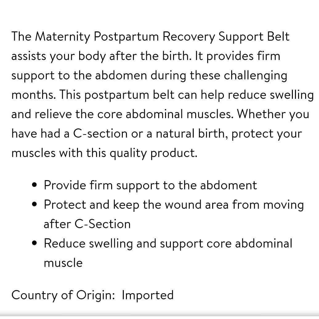 Postpartum Maternity Girdle Belt