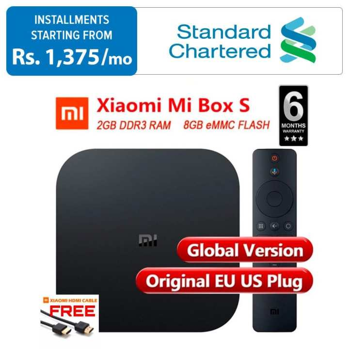 Xiaomi Mi TV Box S with 4K HDR - Android TV Streaming Media Player - Google Assistant