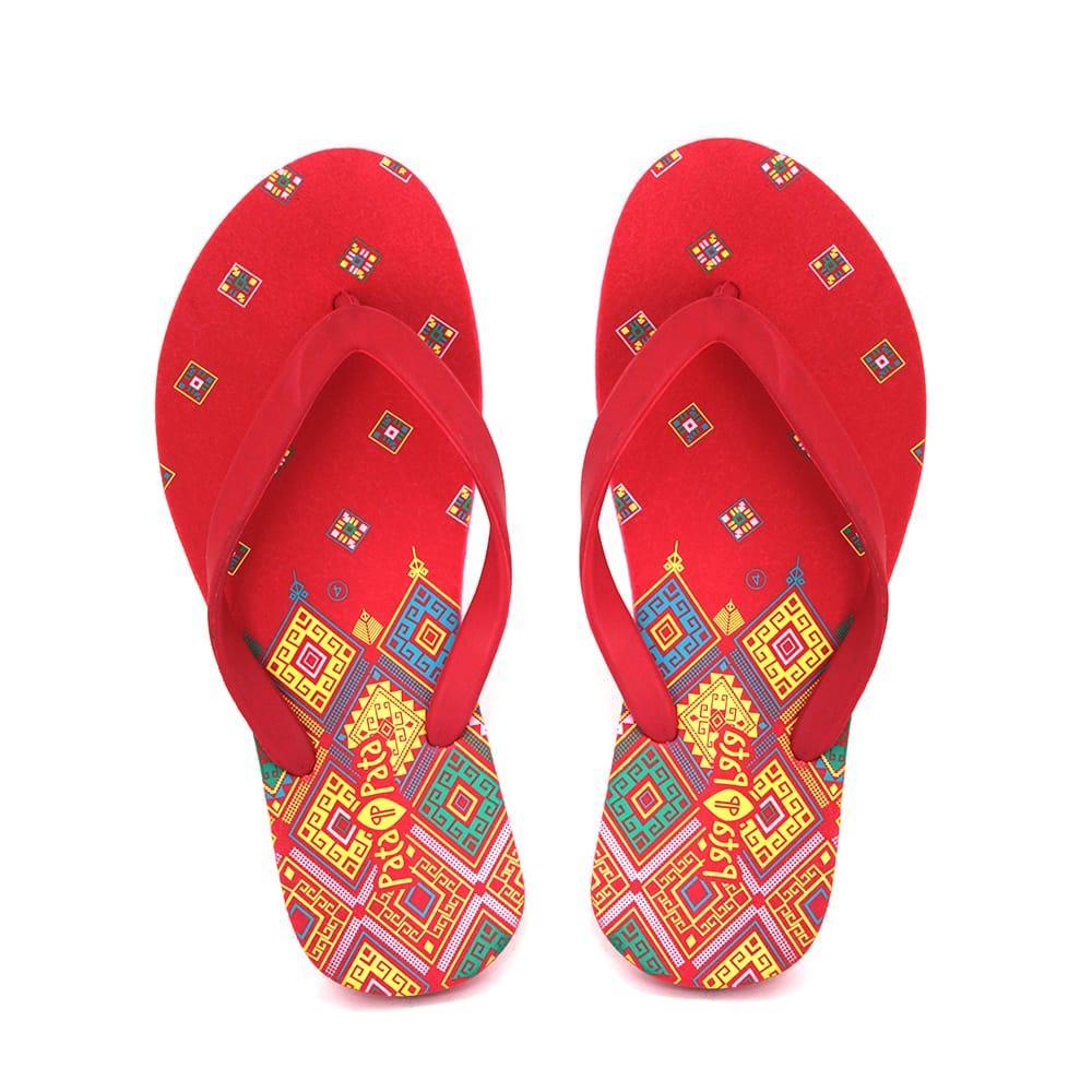 d9871f299c5 Bata Ladies Rubber Red Flip flop
