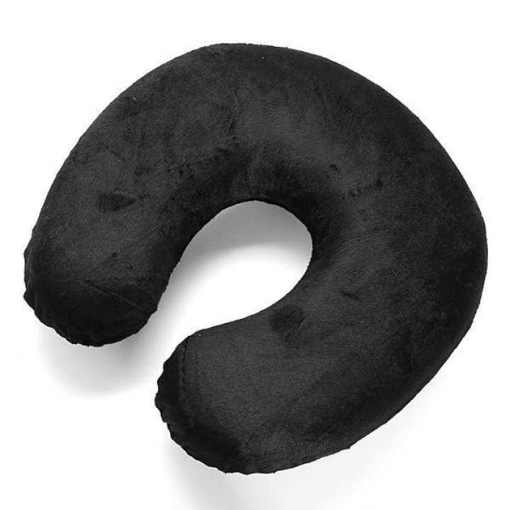 U Shaped Neck Rest Memory Foam Car Travel Comfort Soft Cushion Pillows (Grey)