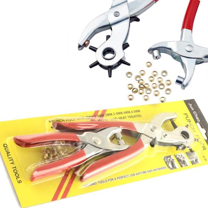 6 Sized Heavy Duty Leather Hole Punch Pliers Metal Hand Tool 2pcs/Set