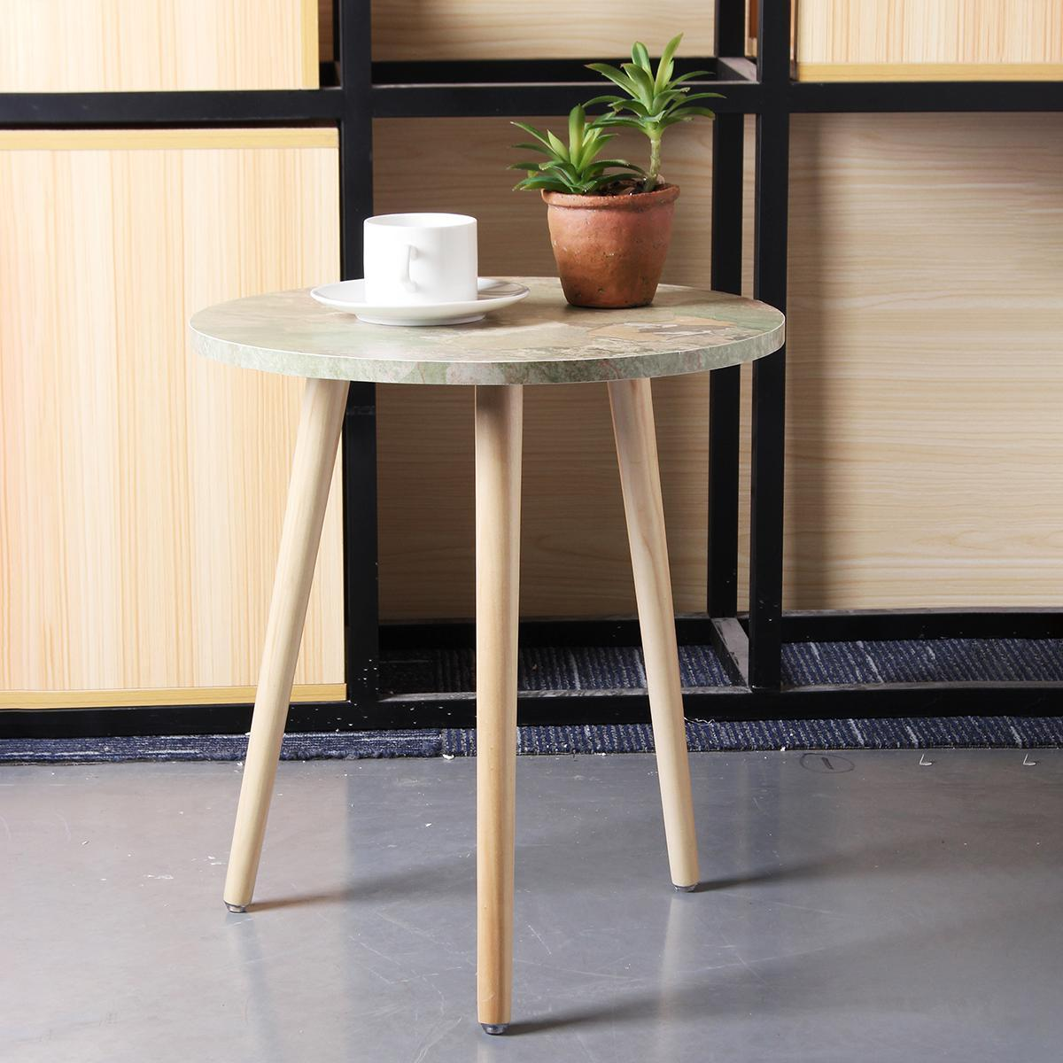 Modern Wood Round Coffee Snack Side End Tea Table Bedside Hallway Furniture