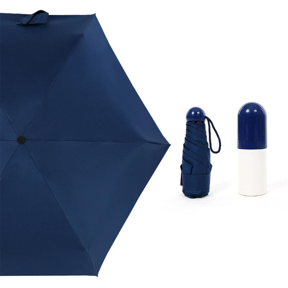 96d2dd7e25bb Mini Umbrella,Ultralight Foldable Umbrella Mini Capsules Automatic Umbrella  Cream Folding Rubber Umbrellas Sunshades Travel