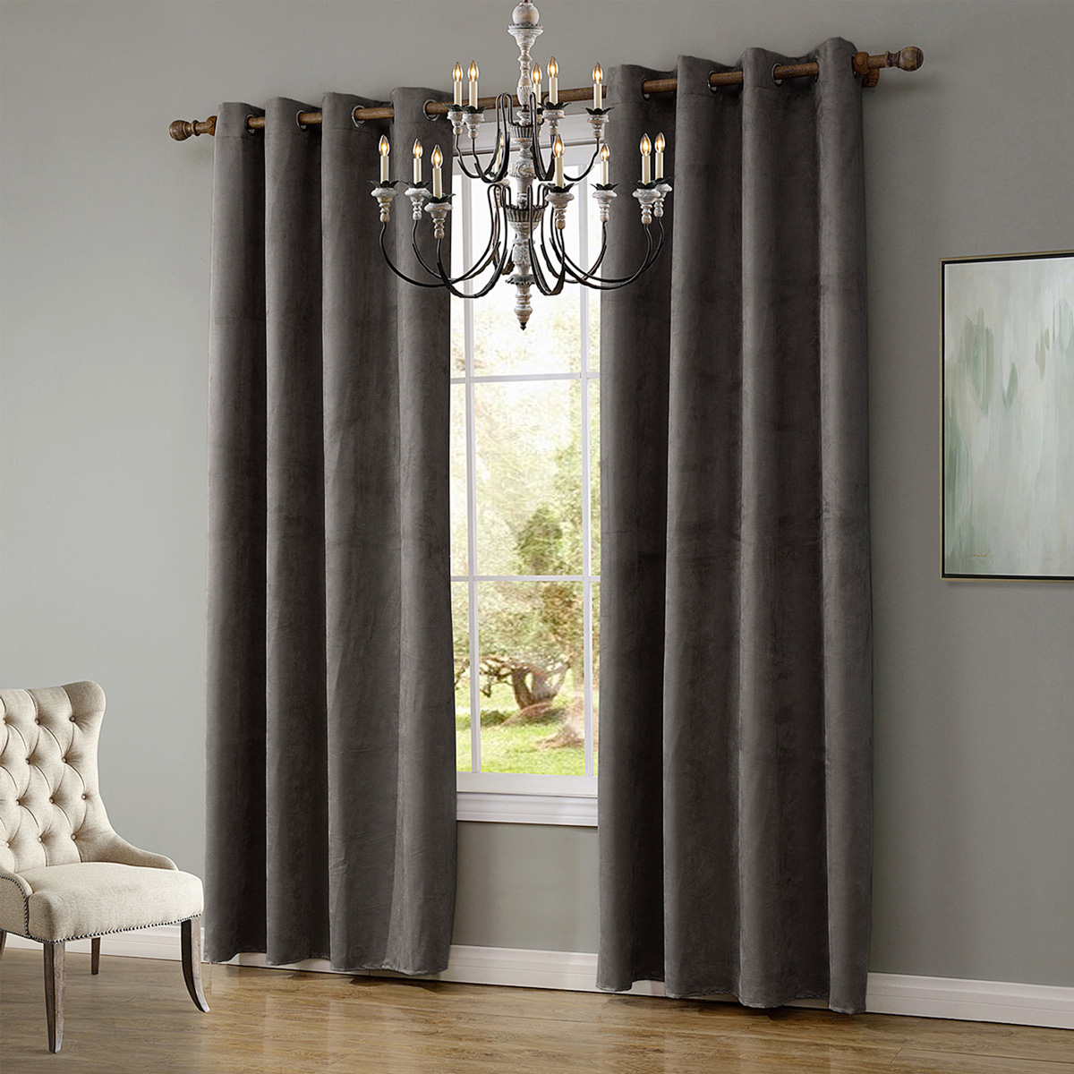 6 Colors Solid Colors Blackout Curtains For Living Room Bedroom Modern Window Curtains Thermal Curtain For Window Home Decor Grommet Drapes Bedroom Decorations Grey Buy Sell Online Best Prices In Srilanka