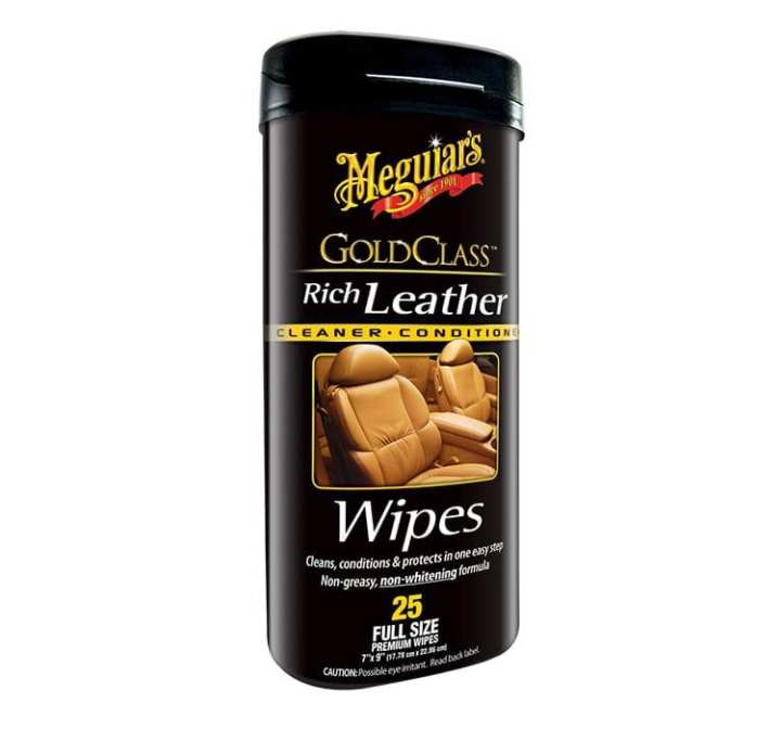 Meguiar's® Gold Class™ G10900, Rich Leather Wipes, 25 Wipes