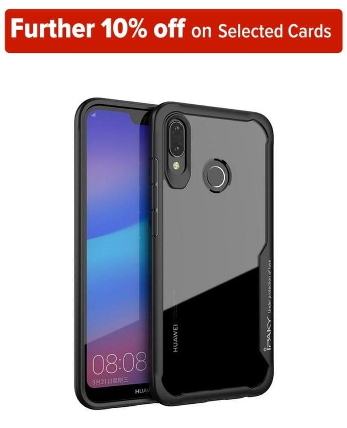 IPAKY Transparent Cover with TPU Protection Frame for Nova 3i