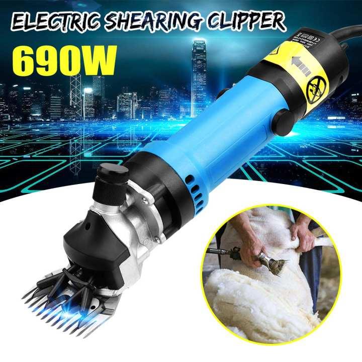 690W Electric Sheep Goat Clipper Shears Wool Shearing Sheep Goat Trimmer Farm AU Plug