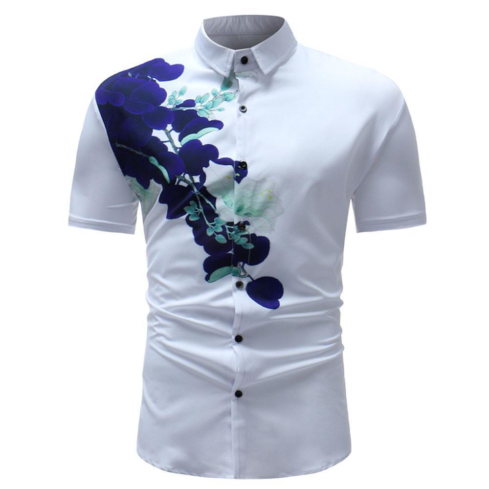 Mens Buttons Design Half Cardigans Short Sleeve Slim Fit Casual T Shirt