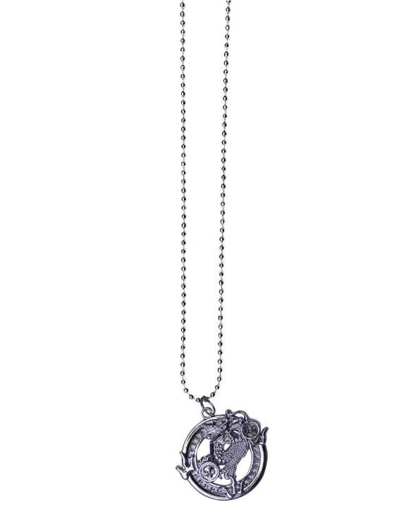 Stainless Steel Silver Code & Pendant Necklace - Silver
