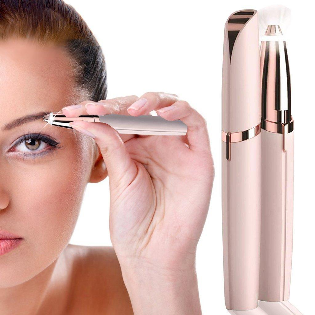 Rechargeable Flawless Brows Eyebrow Hair Remover, Blush by Finishing A Touch