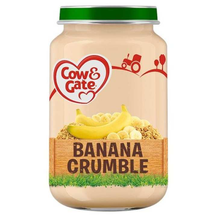 Cow & Gate Banana Crumble Jar 200g (From UK)  Age 7 Months +