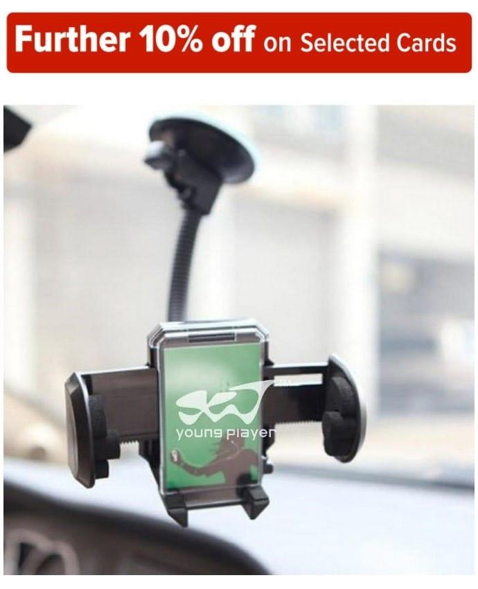 Universal Car Mount Holder for Mobile Phone. Cell Phone clamp with suction cup , Mobile Phone Holder Rotating 360 Degree