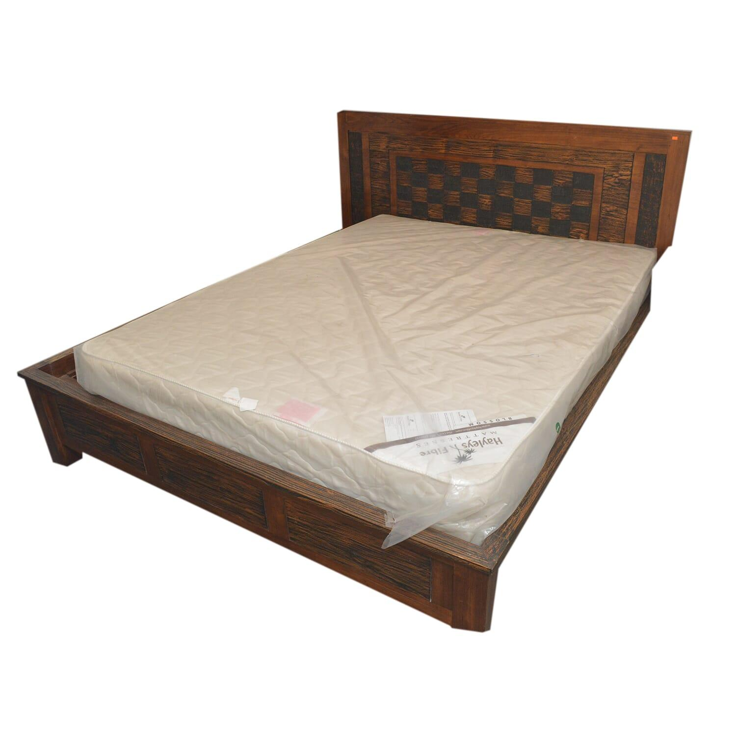 Double Bed - Brown