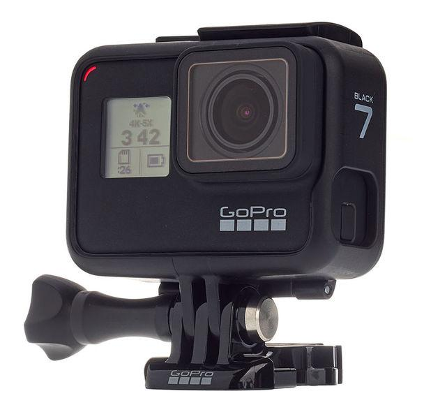 GoPro HERO 7 Black — Waterproof Digital Action Camera with Touch Screen 4K HD Video 12MP Photos Live Streaming Stabilization