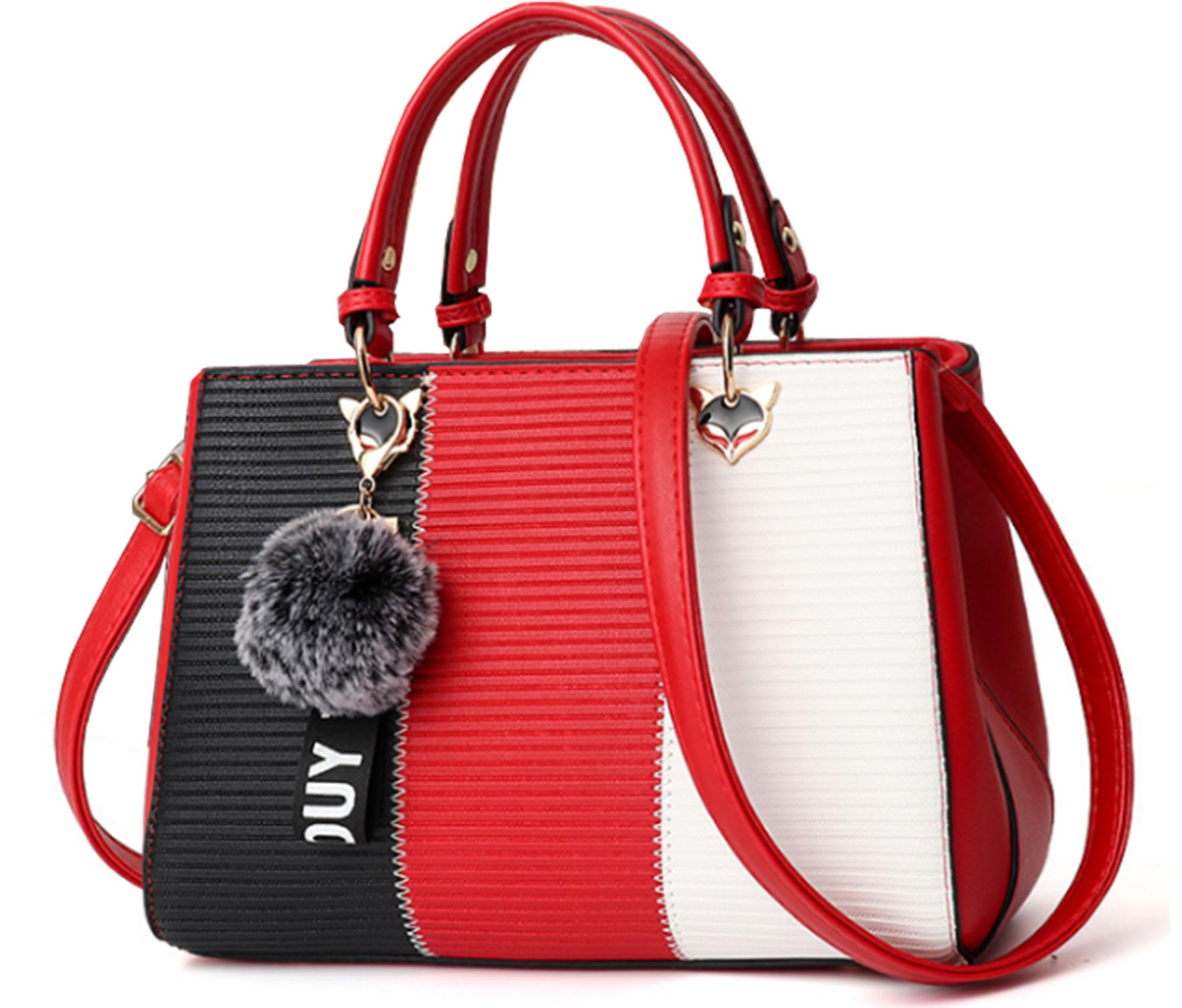 6cf4c3b7f8 Women Hand Bags - Black+Maroon+White - CHOK0514