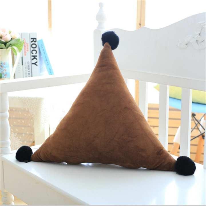 50cm Triangle Lovely Plush Pillow Bed Home Sofa Car Decor Triangle Cushion Gift