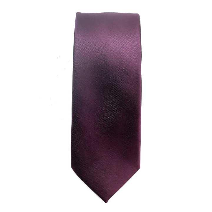 Micro Fiber Plain Tie - Dark Purple