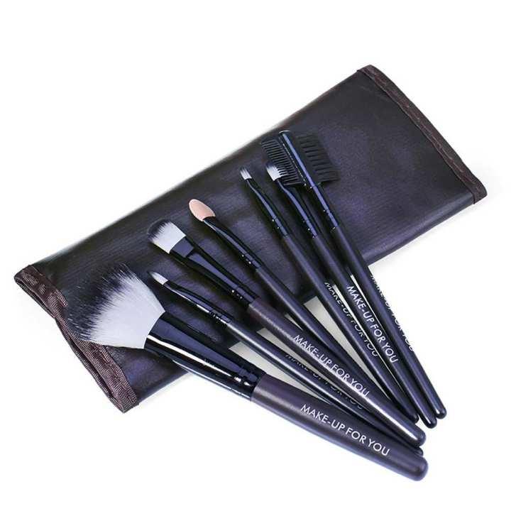 7PCS Professional Makeup Brushes Set Eyeshadow Eyebrow Blending Powder Smudge Brush Suit