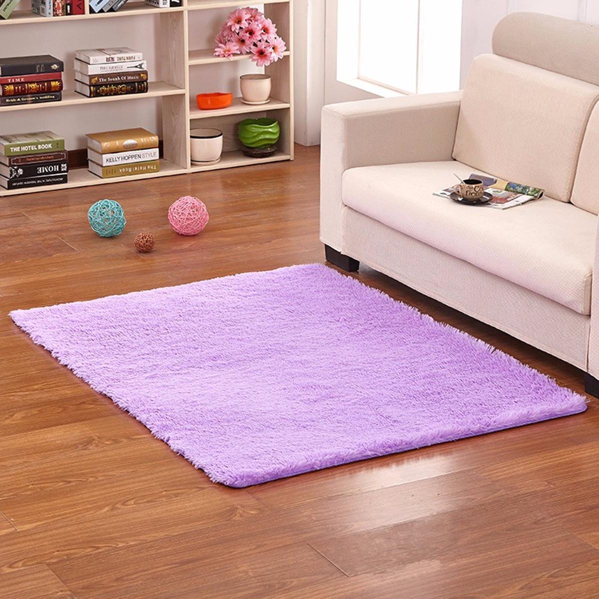 Honana WX-329 50x80cm Bedroom Living Room Soft Rug Shaggy Anti Slip Carpet Absorbent Mat