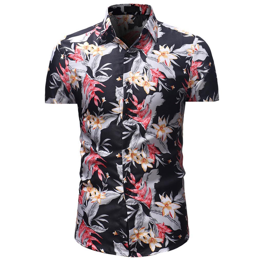 531612d4a99e Rainbowroom 2019 Men's Printed Casual Button Down Short Sleeve Hawaiian  Shirt Top Blouse