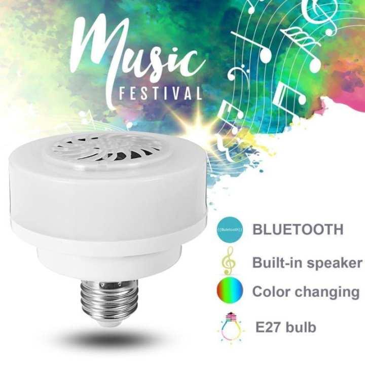 E27 LED Wireless Bluetooth Bulb Light Speaker RGB Music Play Lamp Phone Control