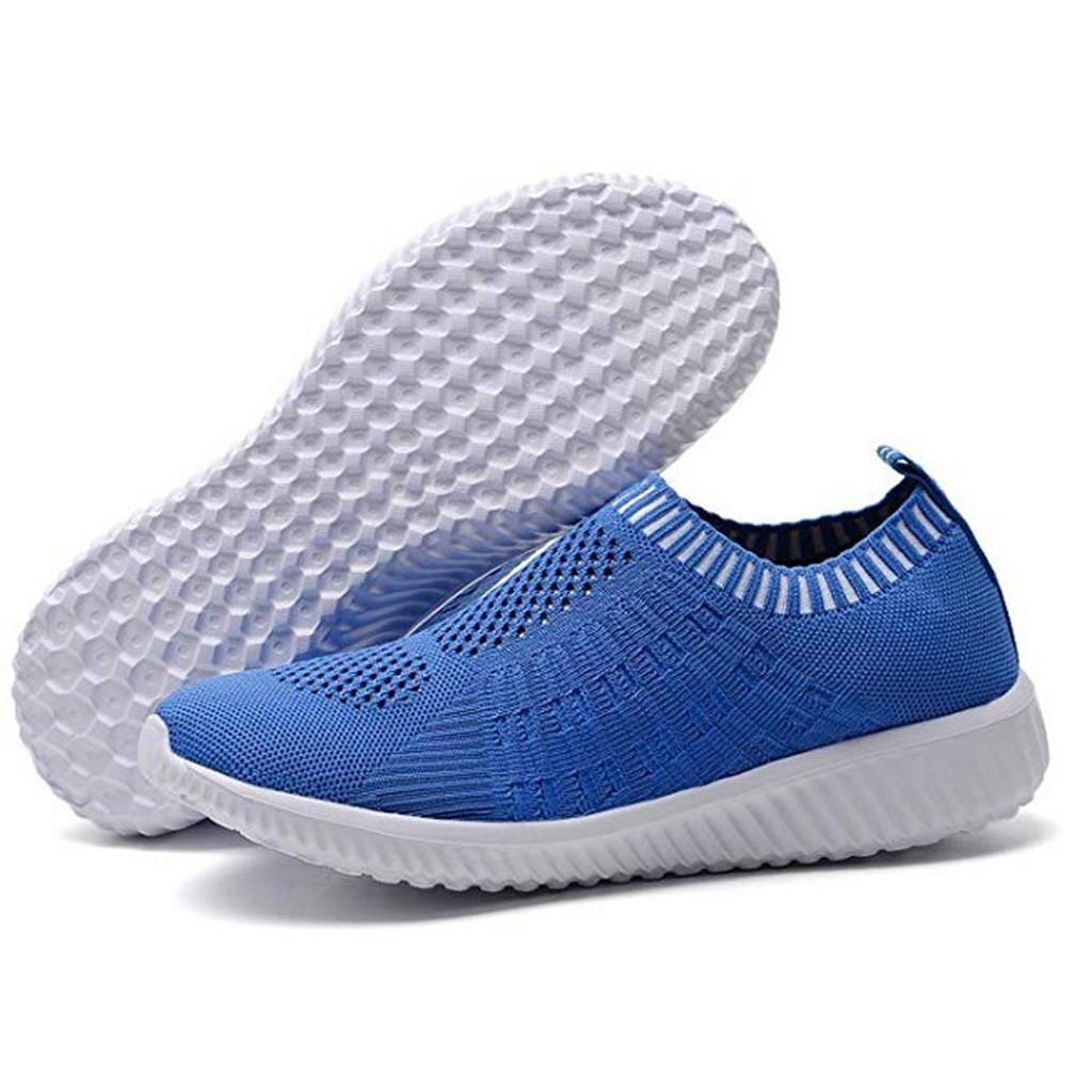 bf6d2144a Women Solid Color Athletic Walking Shoes Casual Mesh-Comfortable Work  Sneakers