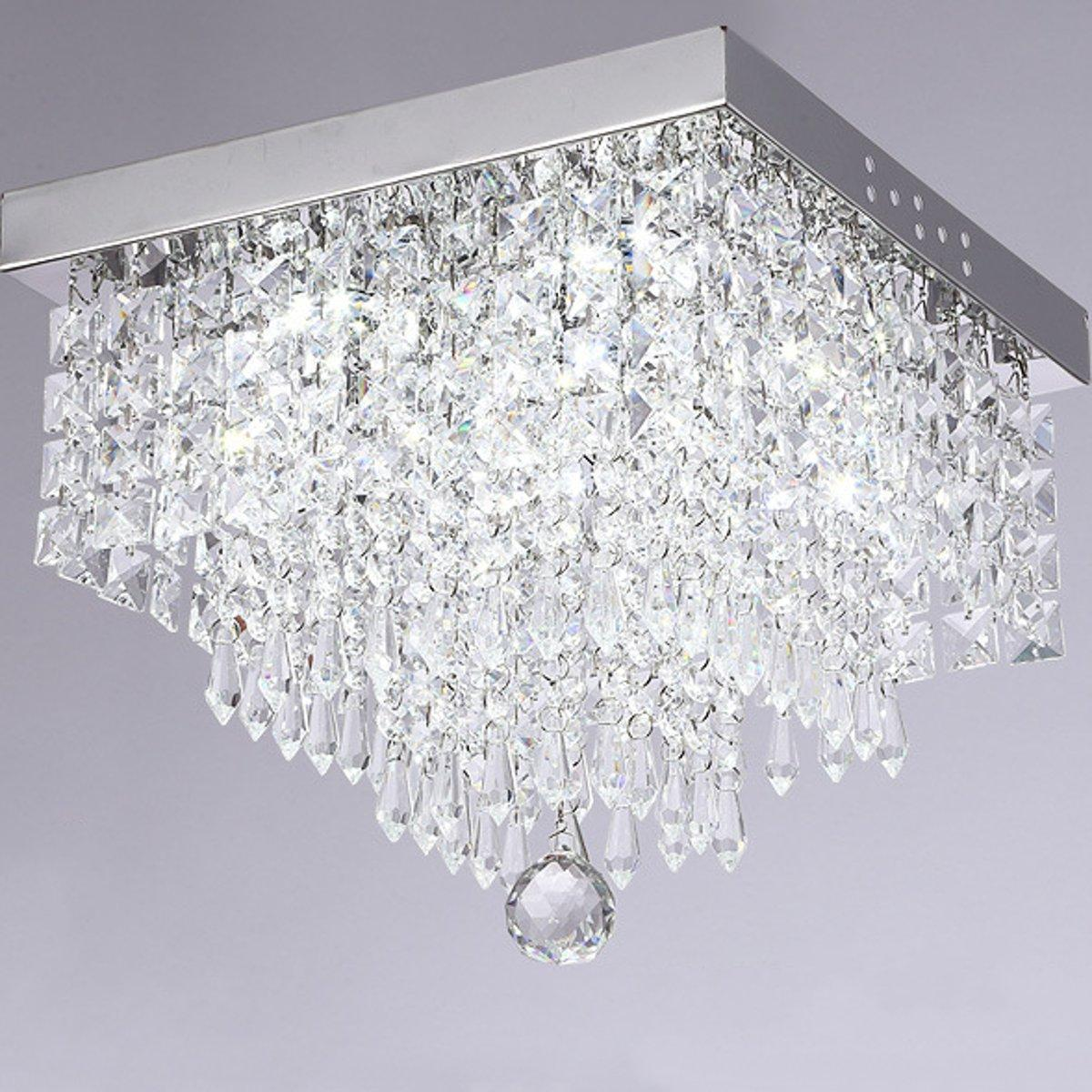 NEW Modern LED Crystal Ceiling Light Living Room Bedroom Lobby Pendant Lamp #30cm