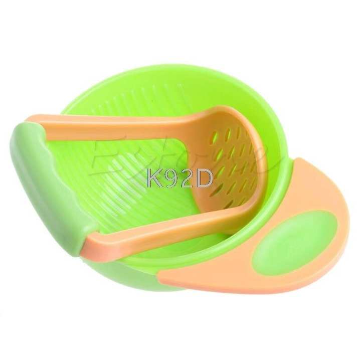 Kid Baby Learning Dishes Grinding Bowl(food smasher)
