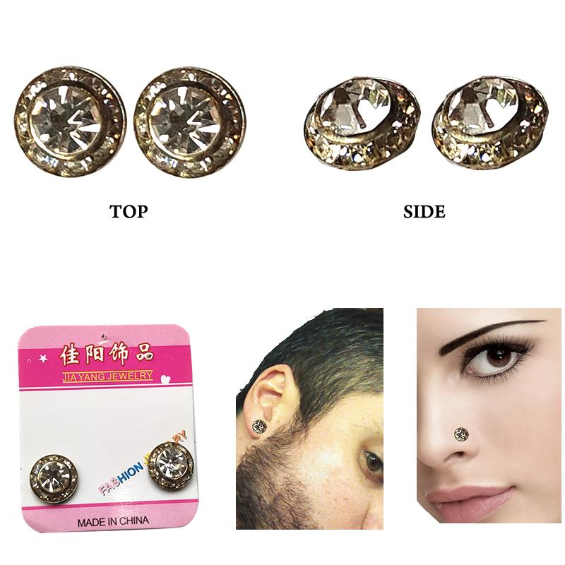 One Pair Non Pierced Unisex Magnetic Fashion Earring Nosering