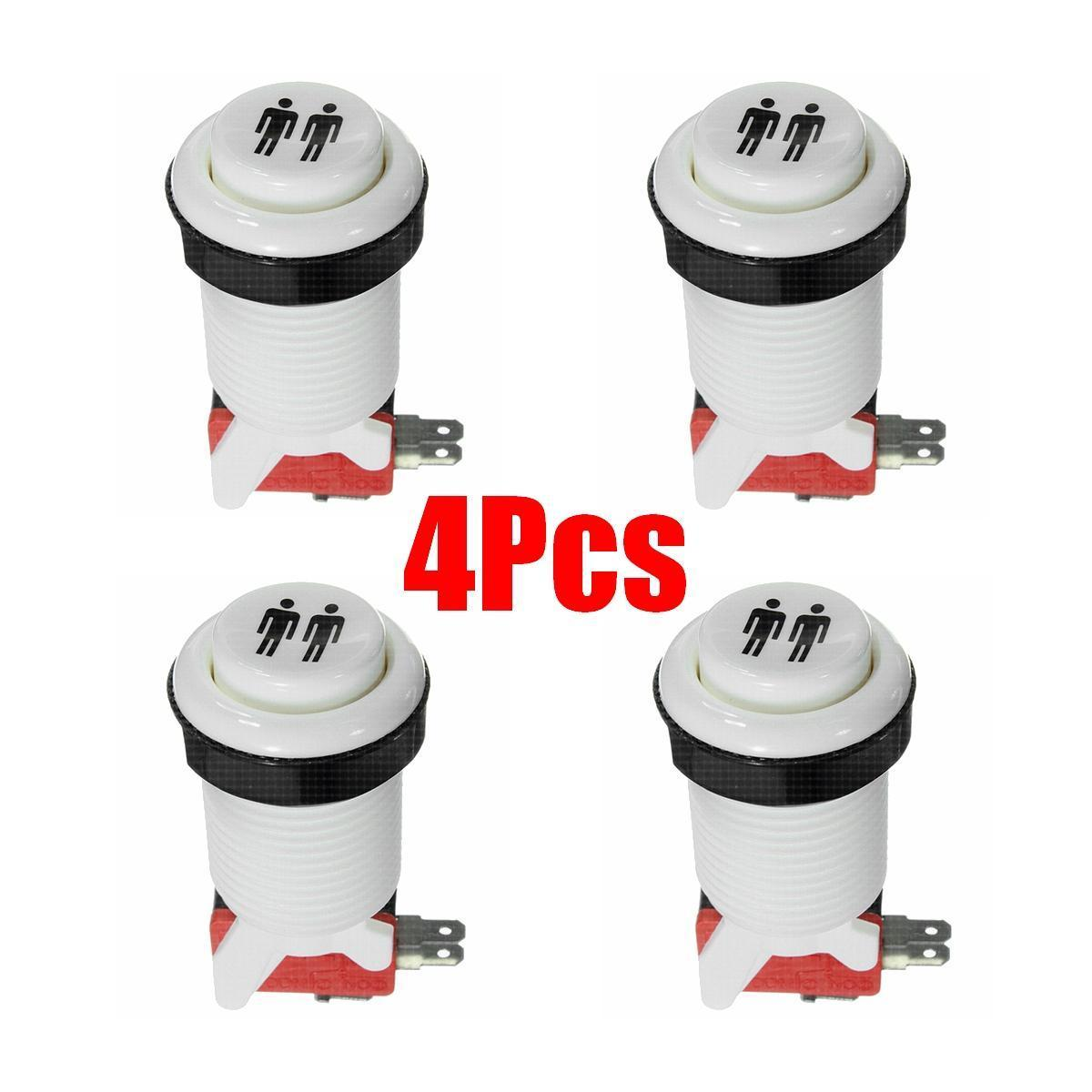 4pcs Happ Arcade Multicade MAME Push Buttons Durable Jamma GameSwitch (Two  Player)