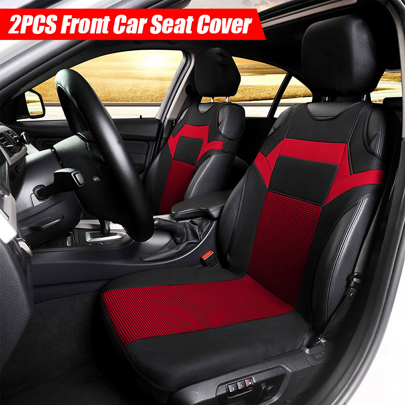 2Pcs Car Front Seat Cover Polyester Fabric Protector For Interior Accessories