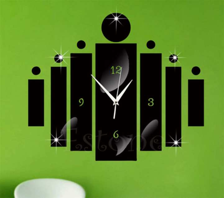 3D Wall Pasting Clocks - Family