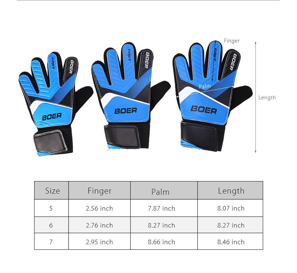 BOER Anti-skid Finger-save Child Goalkeeper Gloves for Goalie Beginners