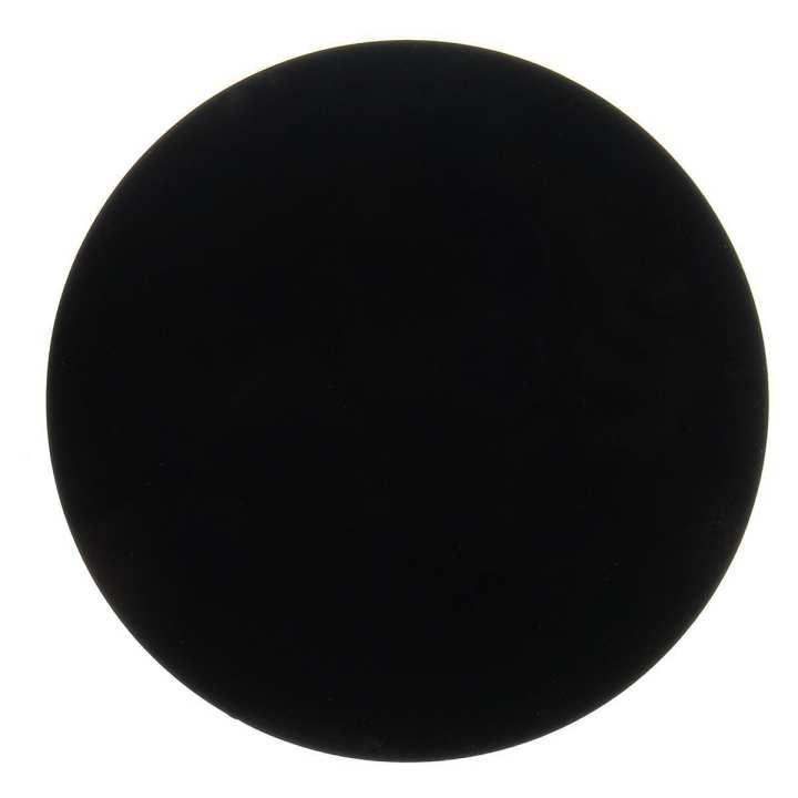 Black Round Plexiglass Acrylic Plate Discs Plastic Circles 2mm Thick Laser Cut 80mm