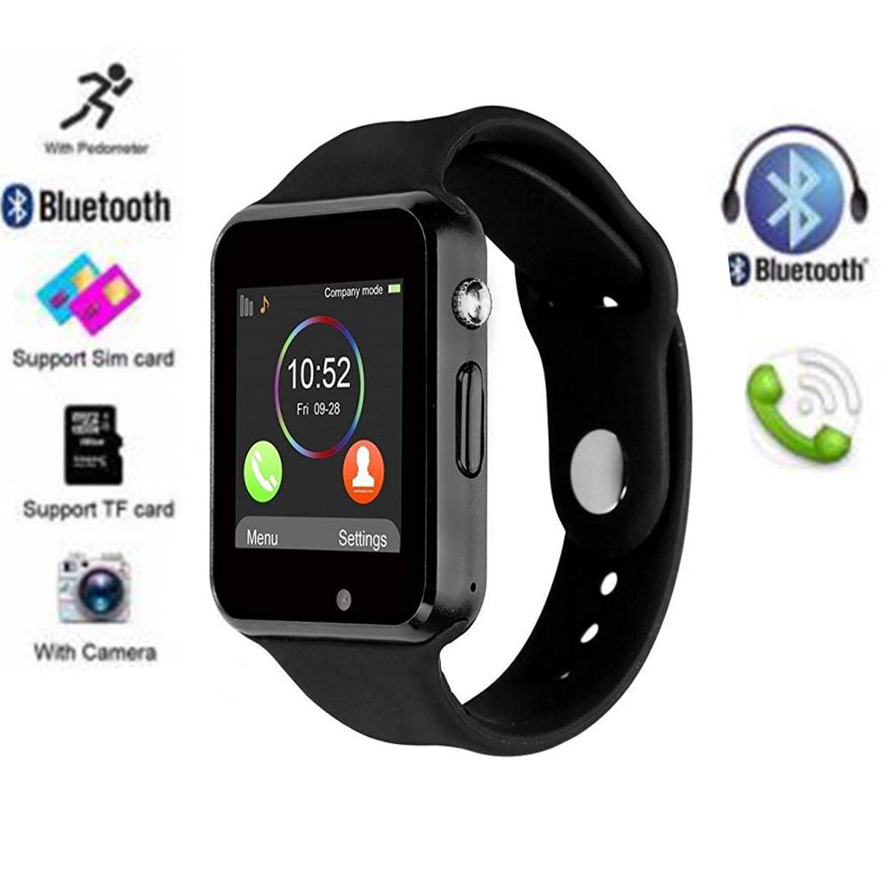 db033deb71e A1 Touch Screen Bluetooth Smart Watch Camera Smart Clock Support NFC SIM  Card GSM For All