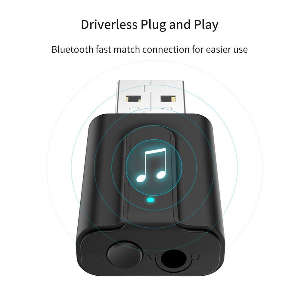 W&R 2-in-1 Bluetooth 5 0 Transmitter/Receiver, Wireless 3 5mm Bluetooth  Audio Adapter (2 Devices Simultaneously, for Television /Home Sound System)