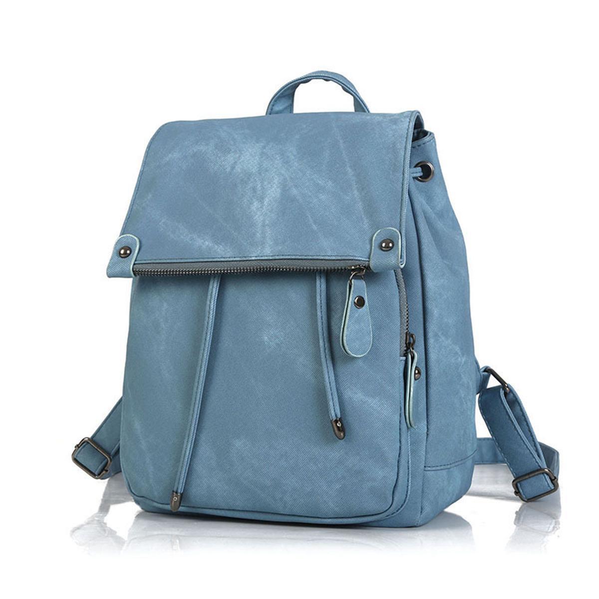 e0665776dab Fashion Women PU Leather Backpack Travel Bag Shoulder Messenger School  Rucksack