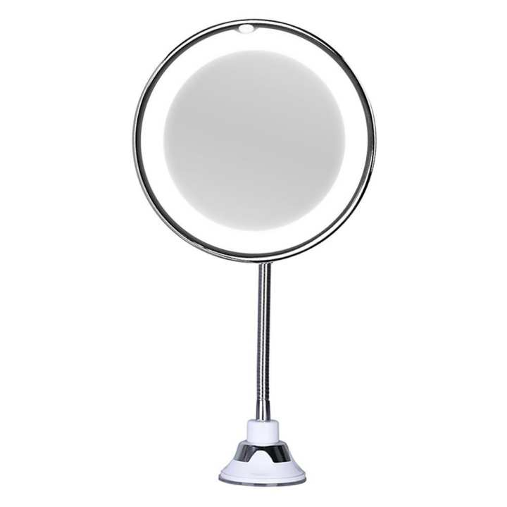 ALLOYSEED 5X Folding LED Lighted Makeup Mirror 360 Rotation Vanity Cosmetic Mirror