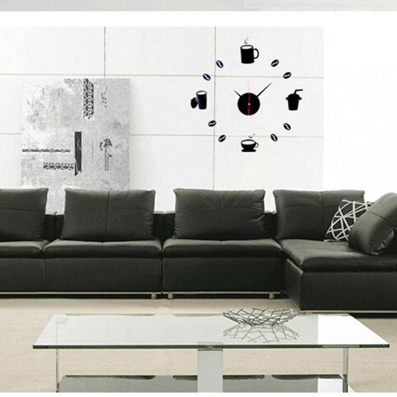 Honana DX-X3 Creative 3D Acrylic Mirror Wall Sticker Quartz Clocks Watch Large Home Decor