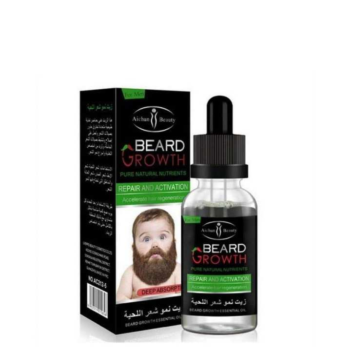 Liquid Beard Growth Essential Oil Fast Enhance Facial Whiskers Nutrition Mustache Beard Repair Growth