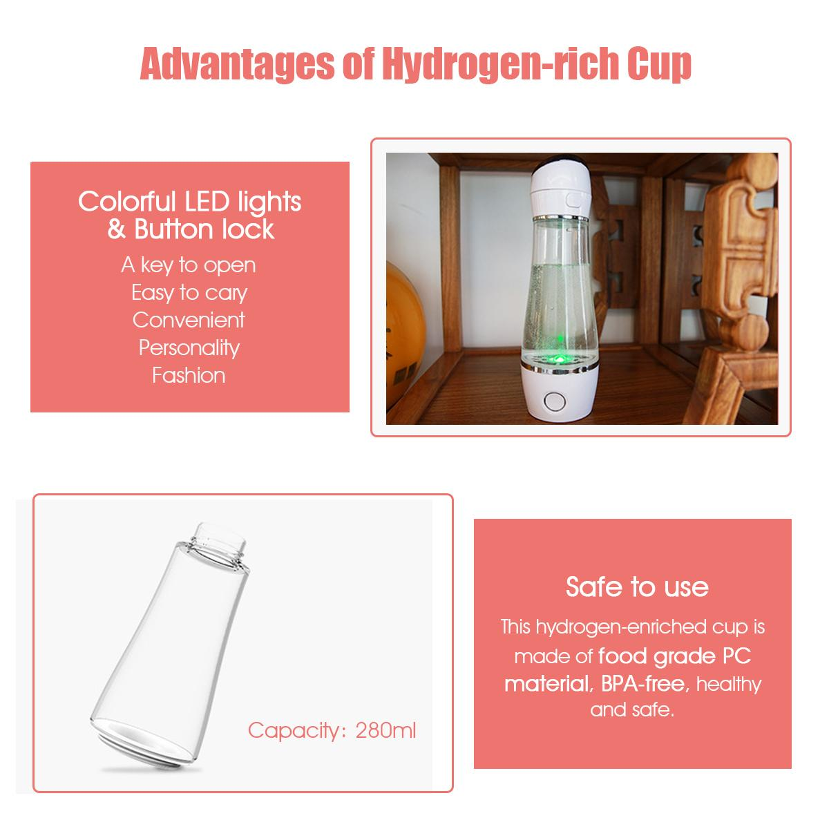 79a1100ff4 Specifications of AUGIENB Rich Water Generator Ionizer Maker Alkaline Energy  Cup Protable Bottles ...