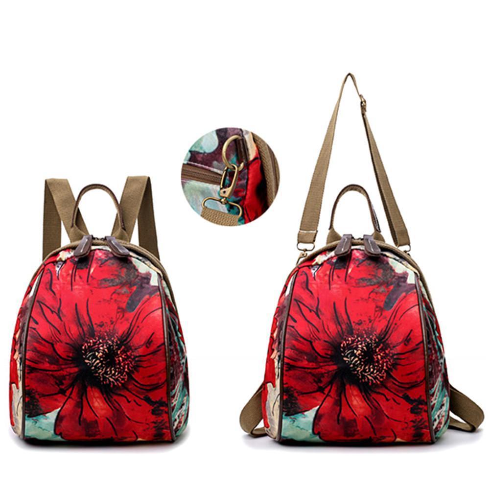 Women Nylon Flower Pattern National Style Handbag Shoulder Bags Backpacks 774c56aa81926