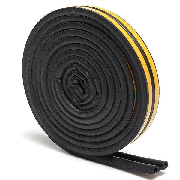 5M P Type Draught Self Adhesive Window Door Excluder Foam Seal Strip Tape  Rubber Black