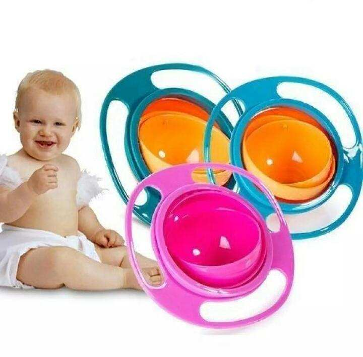 360°Rotation Gyro Bowl For Baby Feeding Without Mess